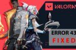 best fix for the valorant error code 43 JKbhesAvgbY