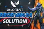 how to fix valorant error van 84 p1wpy9Fw4Hw