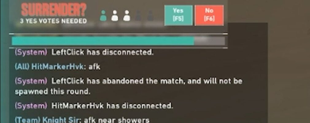 know the steps to surrender a match in valorant mjTfDH pT3I